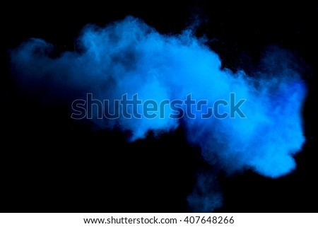 freeze motion of blue dust...