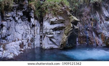 Freezing Stream before Lisong Hotspring (栗松溫泉冰涼溪水) ストックフォト ©