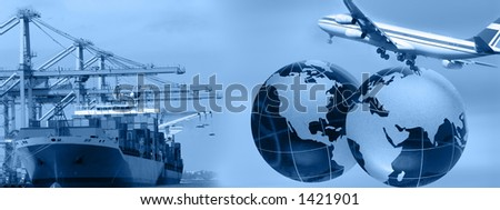 Freight business header- can be used in web design ***Note i am copyright owner of all elements used in the montage *****