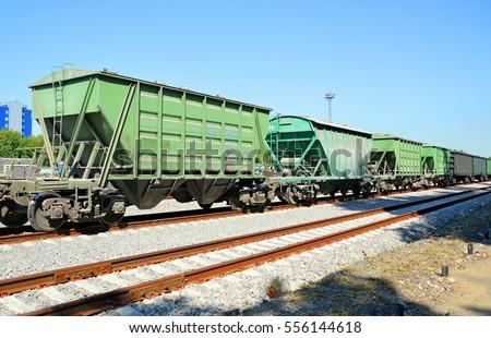 Freight railroad hopper cars
