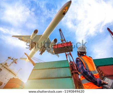 Freight sea land air transhipment cargo services for transport the shipment to worldwide international, the ligistics system services control