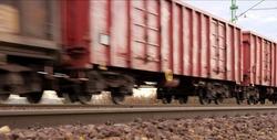Freight train motion blur