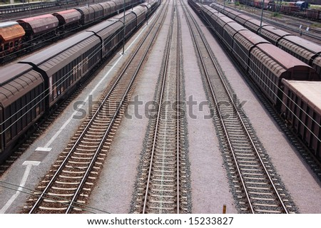Freight trains and railroad lines