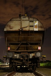 Freight Trains at silent Yard by Night