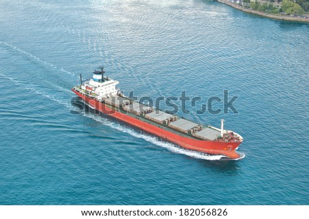 Freight transport ship