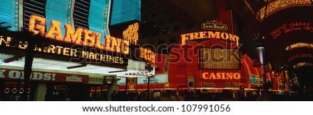 Fremont Street in Las Vegas, Nevada. - stock photo