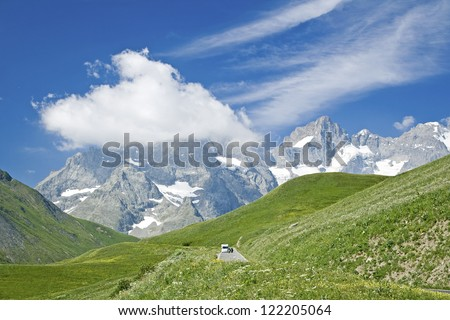 French Alps, mountain landscape. France.