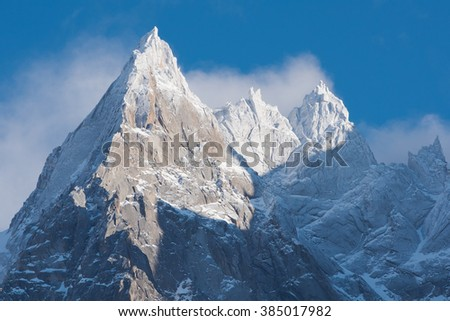 french alps mountain peaks...