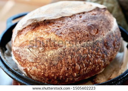 French artisan country bread loaf