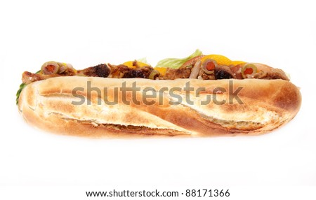 French baguette with gyros