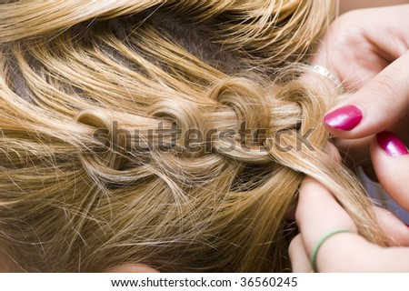 French braid stock photo 36560245 shutterstock - Comment faire une tresse ...