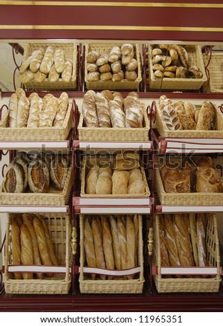 french bread in bakery