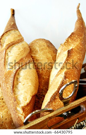 french bread in basket