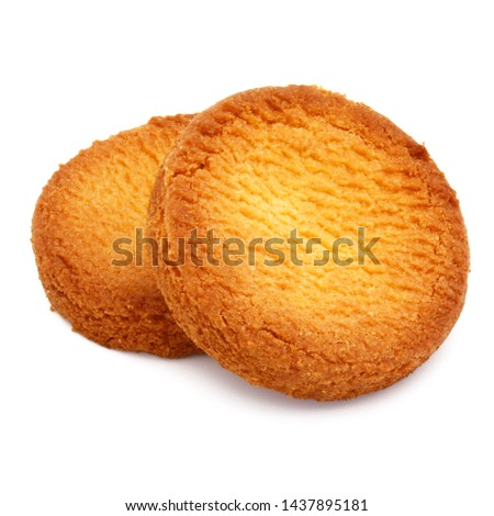 "French ""Breton pucks"" isolated on white background"