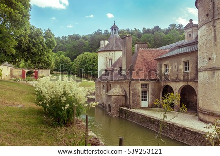 French Chateau of Bussy Rabutin in Burgundy #539253121