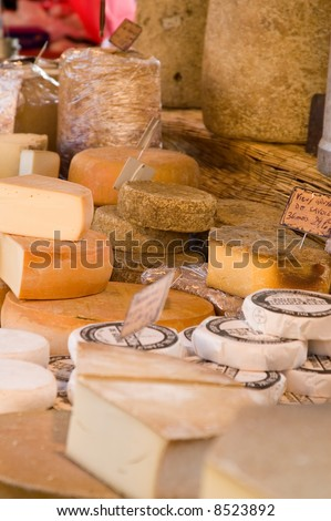 French cheese at farmers market