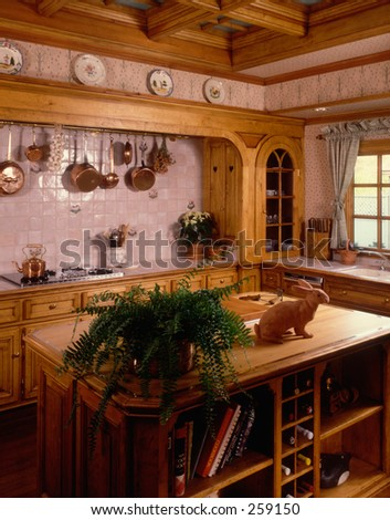 French Country Kitchen - stock photo