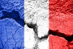 French crisis and social fracture concept
