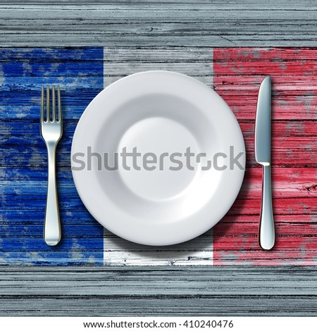 french cuisine food concept as...