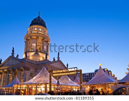 french dome and christmas market in berlin germany