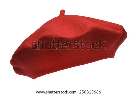 French Felt Beret Front Isolated on White Background. Сток-фото ©