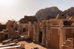French fortress and French architectural design from the inside in wadi rum jordan