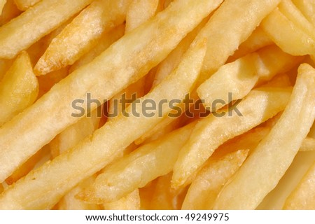French fried potatoes abstract texture macro background
