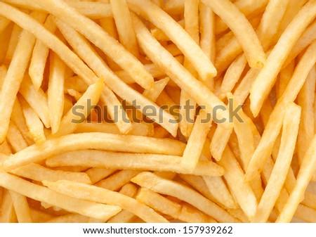 Shutterstock french fries background, closeup shot