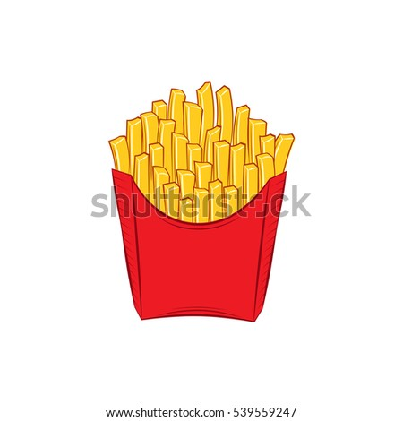 French fries. fast food isolated on white background