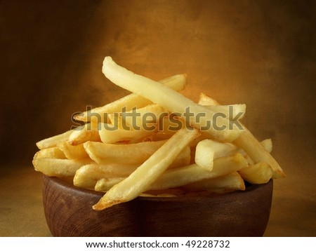 French fries in restaurant style