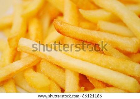 French fries potatoes - stock photo