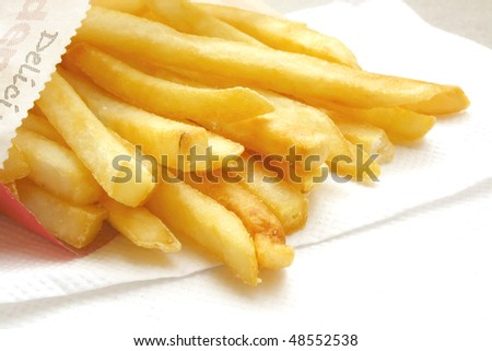 French Fries the popular and common fast food snack