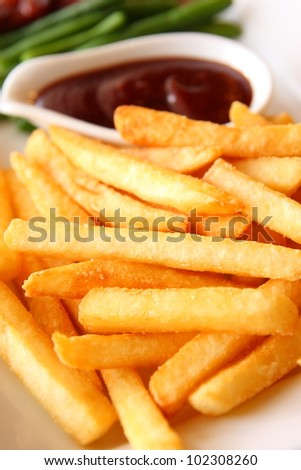 French Fries with Barbecue dipping