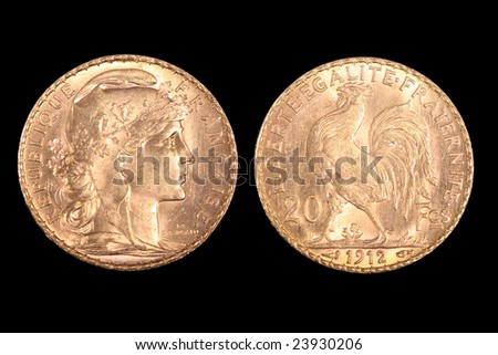 French gold coin from 192