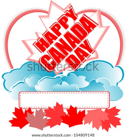 French Happy Canada Day card - raster