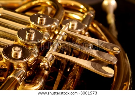 French Horn close up