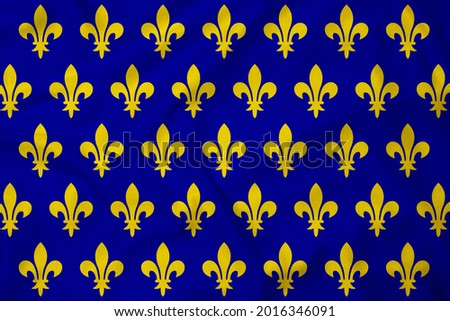 French Imperial Flag, realistic 3d rendering with texture Stock fotó ©