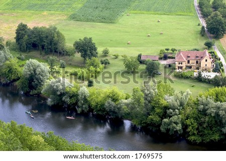 French landscape in Dordogne
