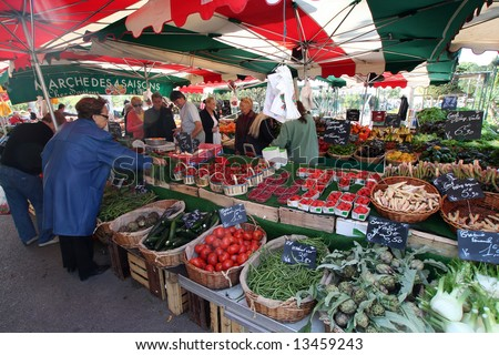 french market in Sanary south of france