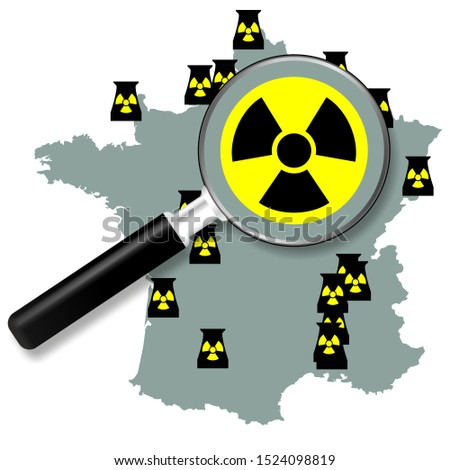 French nuclear power plants map Focus on French nuclear power stations