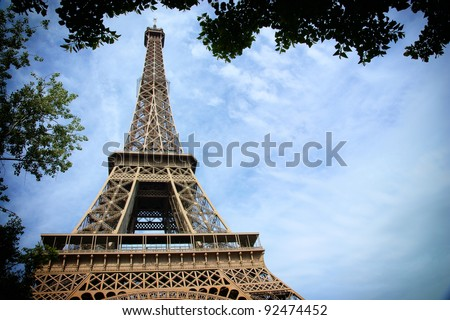 french Paris - Eiffel Tower, architecture construction