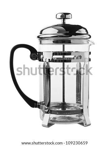 White French Press Coffee Maker : French Press Coffee Or Tea Maker Isolated On White Background Stock Photo 109230659 : Shutterstock