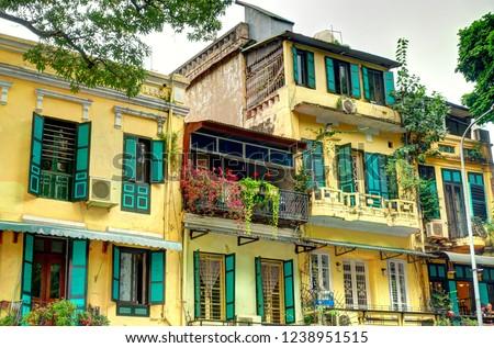 French quarter in Hanoi, Vietnam