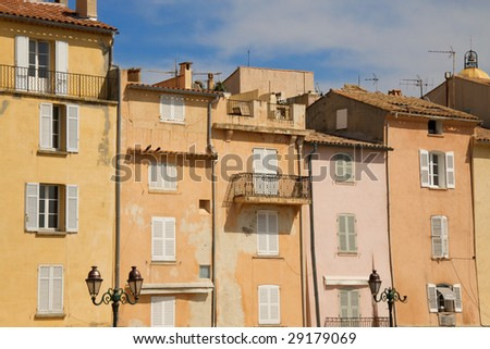 french riviera building facades