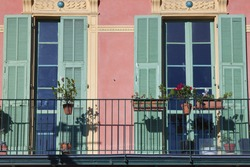 French riviera, Nice. Typical city architecture