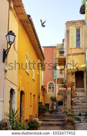 french riviera town...
