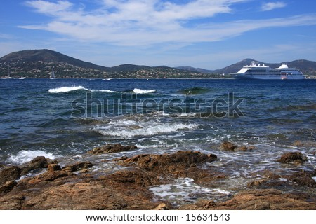 French Riviera - View of the sea from Saint Tropez