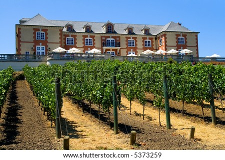 French style winery in Napa Valley