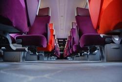 French TGV train interior