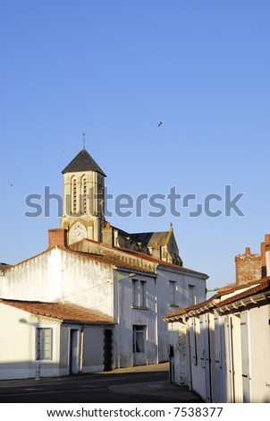 French Village Early Morning